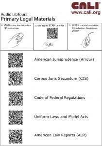 FSU QR code libtour handout, page 1
